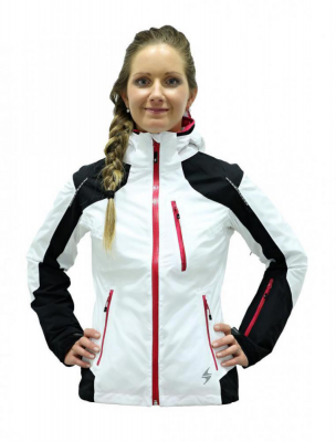 Viva Power Ski Jacket, black/white/grenadine