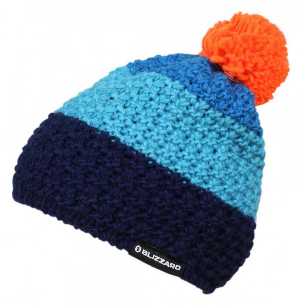 Tricolor, blue/navy/orange
