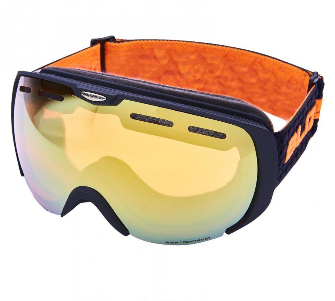 Ski Gog. 921 MDAVZWO, black matt, orange2, silver mirror, smart view