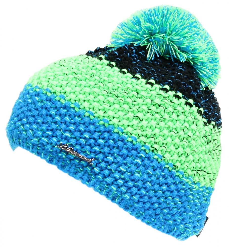 Tricolor, black/green/blue-melange
