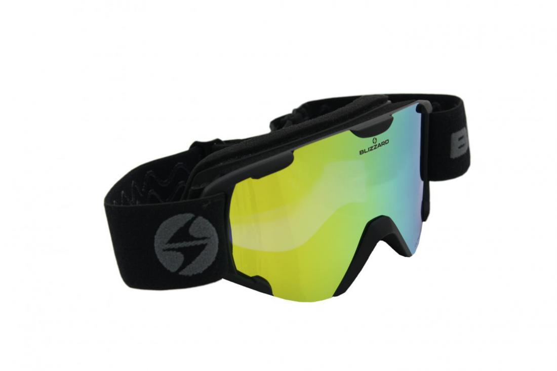 Ski Gog. 952 DAO, matt black, ultra vision lens S21 + full revo yellow