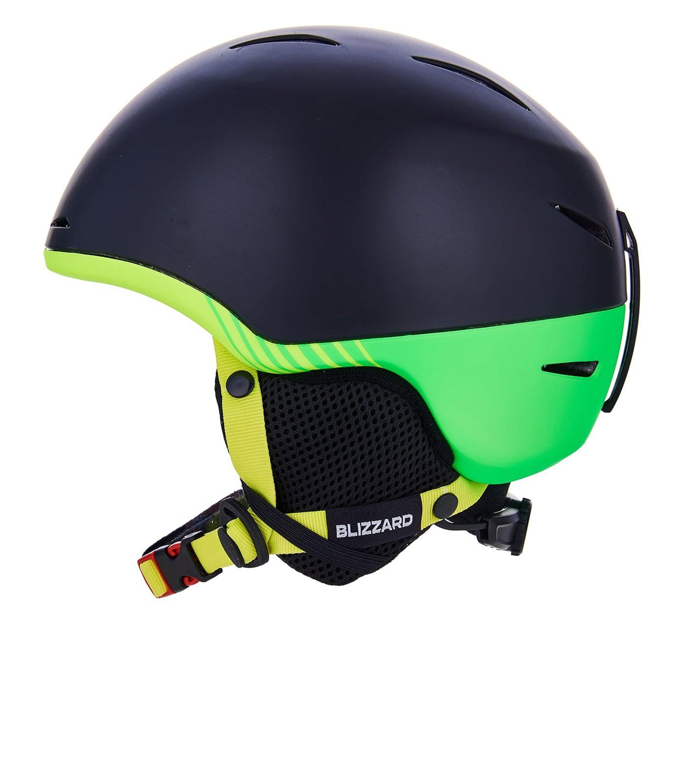 Speed ski helmet junior, black matt/neon yellow matt/neon green matt