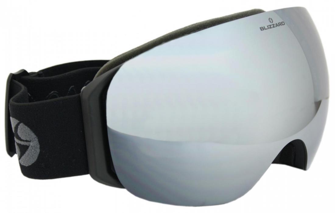 Ski Gog. 999 MDAVZSPFO, black matt, gray2, silver mirror, polar photo