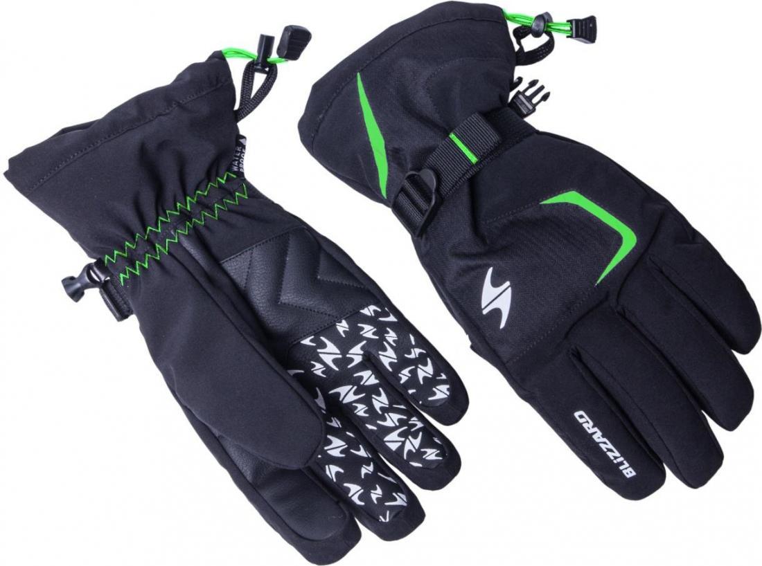 Reflex ski gloves, black/green