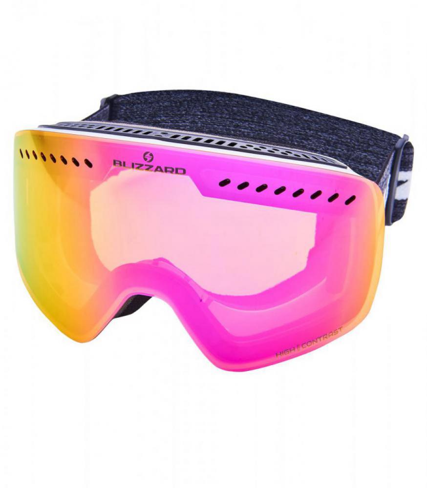 BLIZ Ski Gog. 983 MDAVZOW, white shiny, smoke2, pink REVO