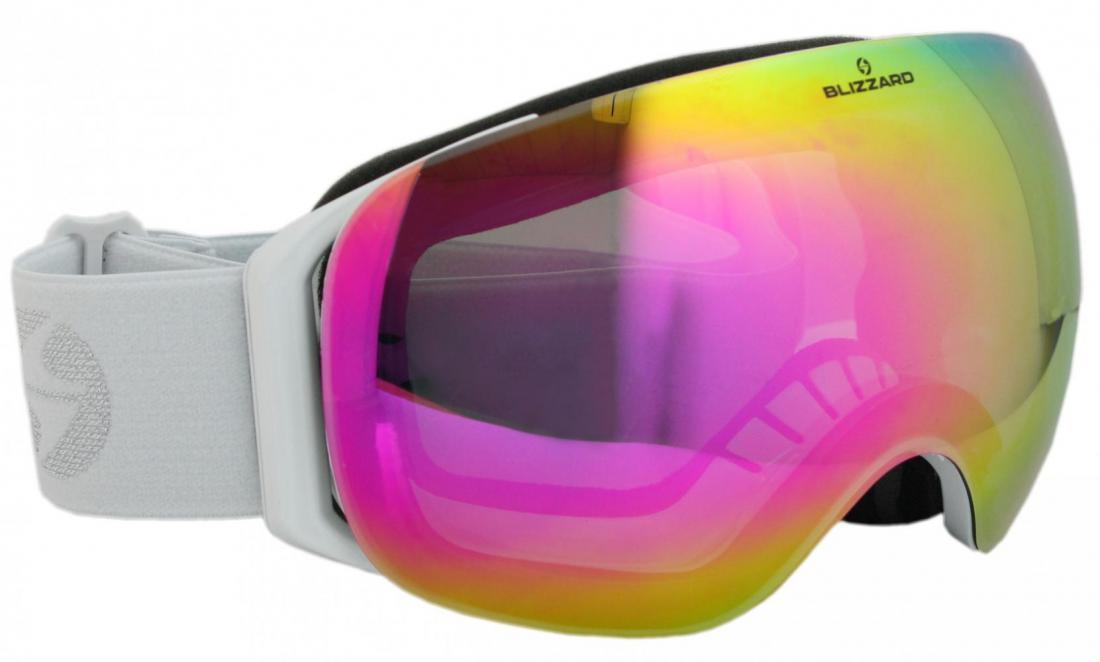 Ski Gog. 999 MDAVZSPFO, white shiny, amber2, pink revo, polar photo