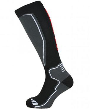 Compress 85 ski socks, black/grey