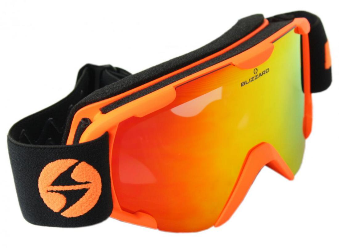 Ski Gog. 952 DAO, matt orange, double smoke lens S21 + full revo red