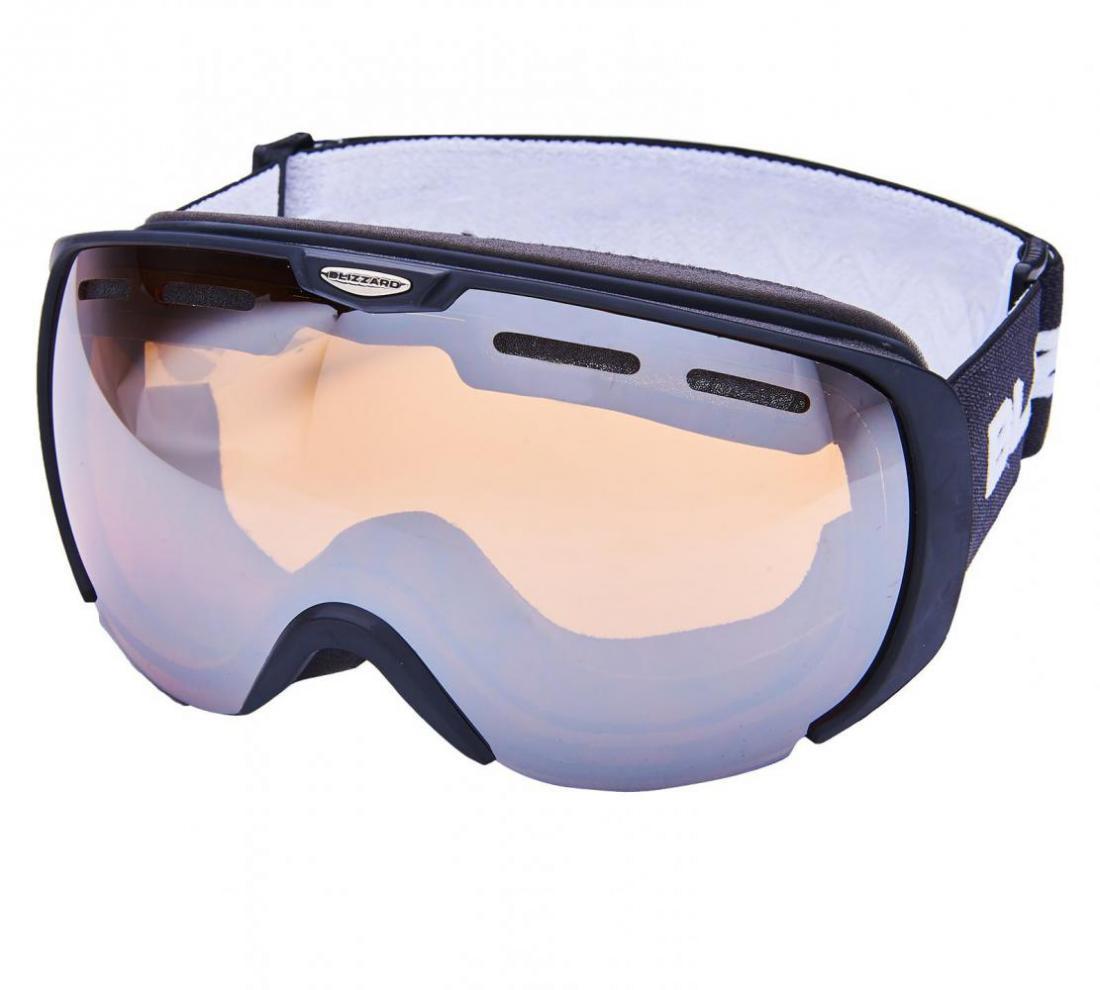 Ski Gog. 921 MDAVZSO, black matt, amber2, silver mirror