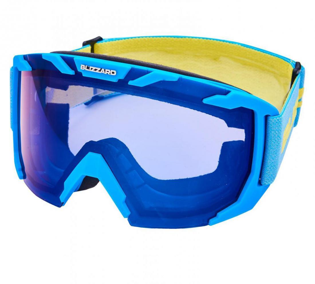 Ski Gog. 925 MDAZO, neon blue matt, smoke2, blue mirror