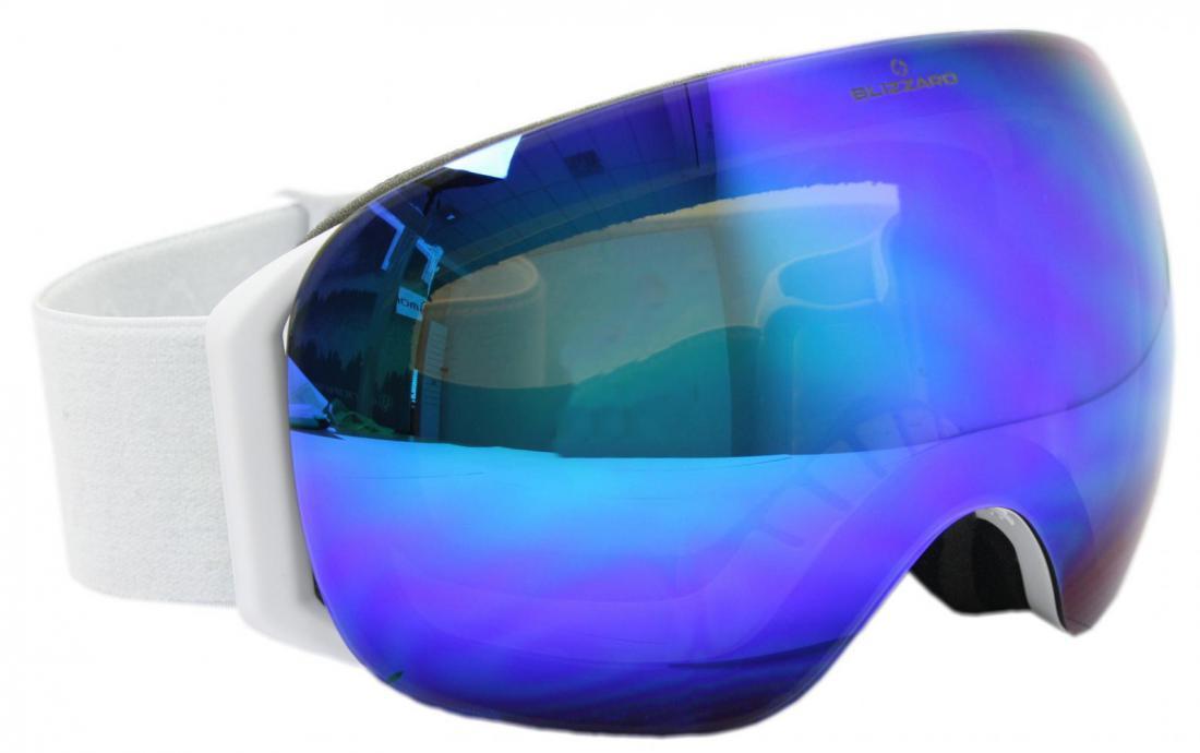 Ski Gog.  999 MDAVZSWO, white shiny, amber2, ice blue revo, high contrast