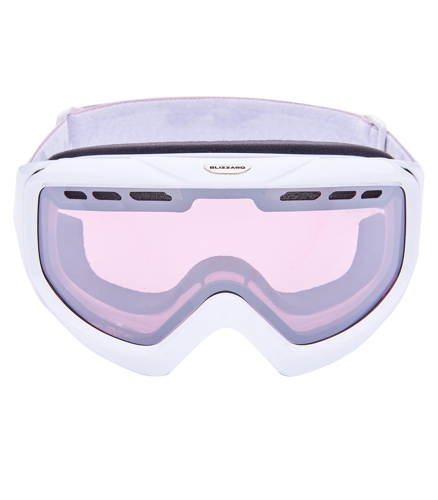 BLIZ Ski Gog. 906 LDAVZO, extra white shiny, rosa2, silver mirror