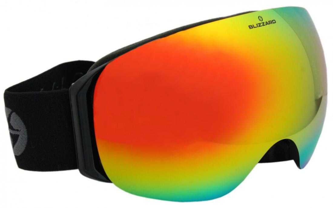 Ski Gog. 999 MDAVZSWO, white shiny, smoke2, silver mirror, high contrast