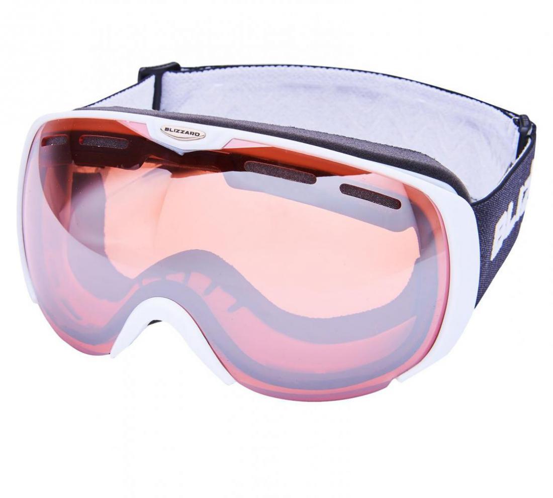 Ski Gog. 921 MDAVZSO, white matt, rosa2, silver mirror
