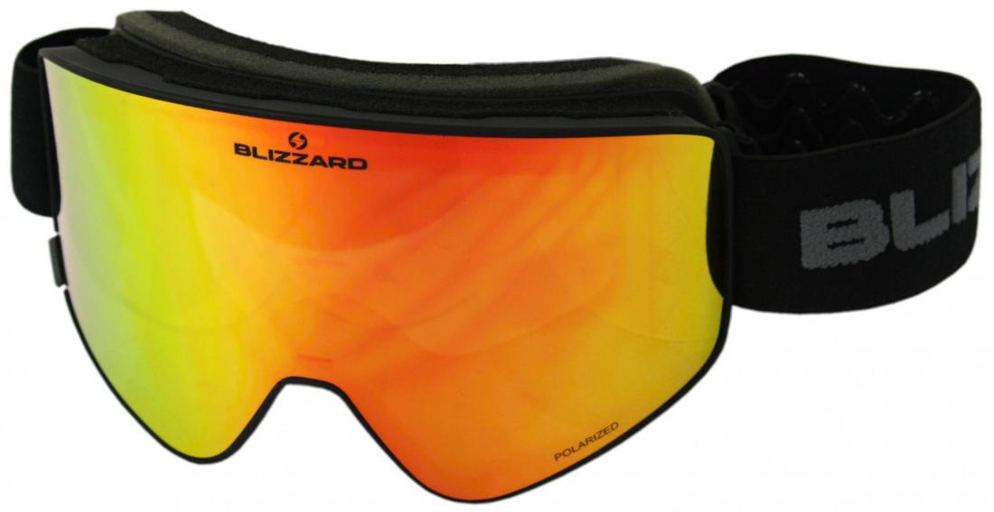 Ski Gog. 912 MDAVPO, black matt, smoke2, silver mirror, polarized
