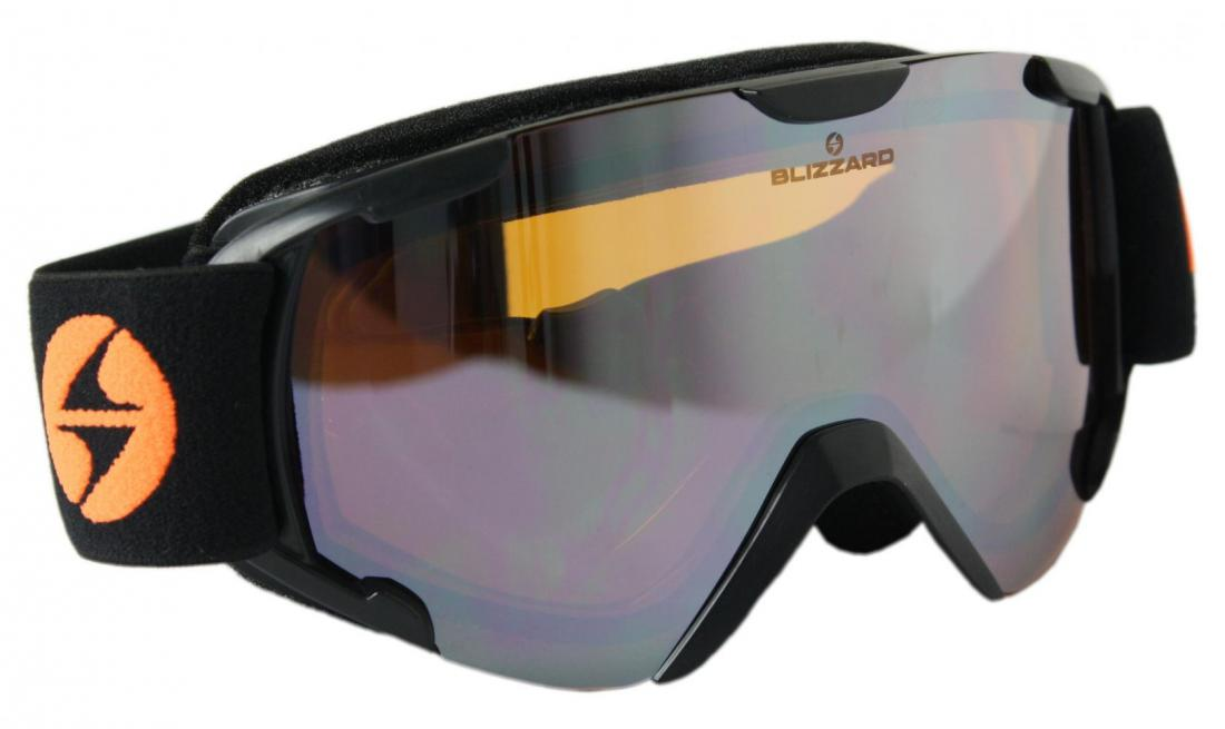 Ski Gog. 952 DAZO, black injected, smoke2, silver mirror