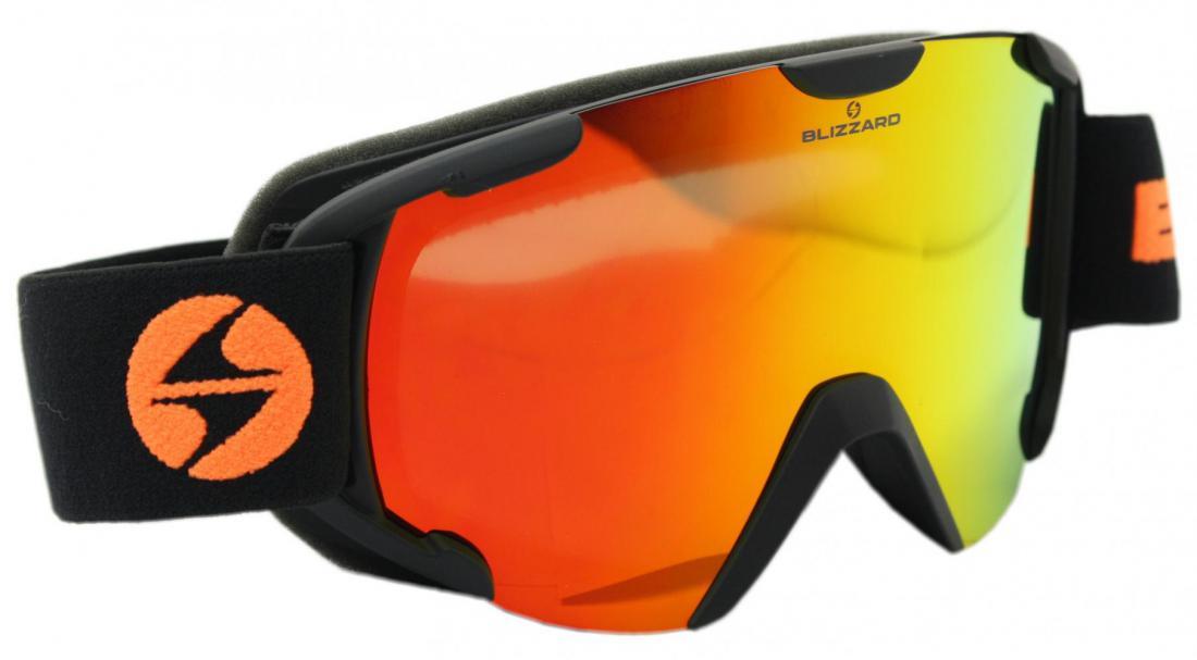 Ski Gog.  938 MDAVZO, black matt, smoke2, orange revo
