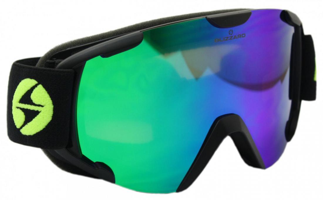 Ski Gog.  938 MDAVZO, black matt, smoke2, green revo