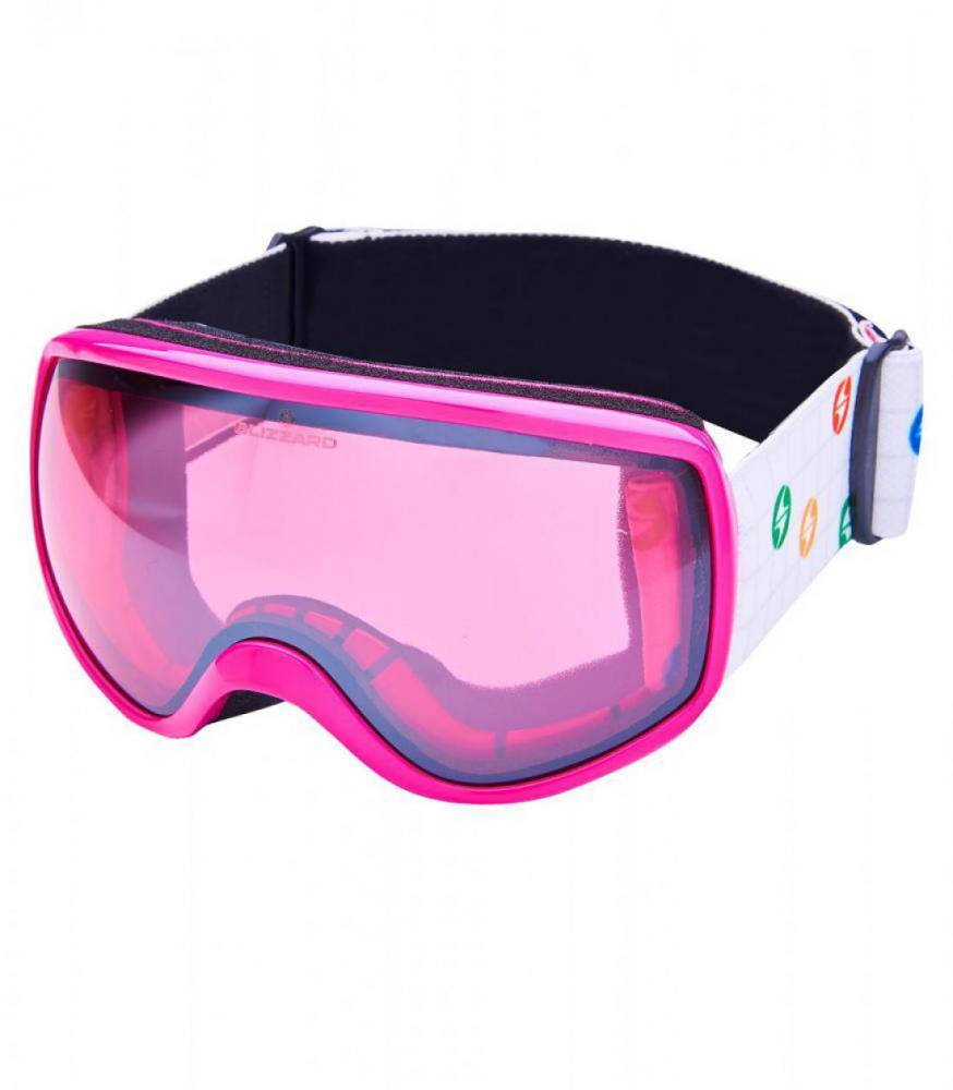 BLIZ Ski Gog. 963 DAO, rosa shiny, rosa1, silver mirror