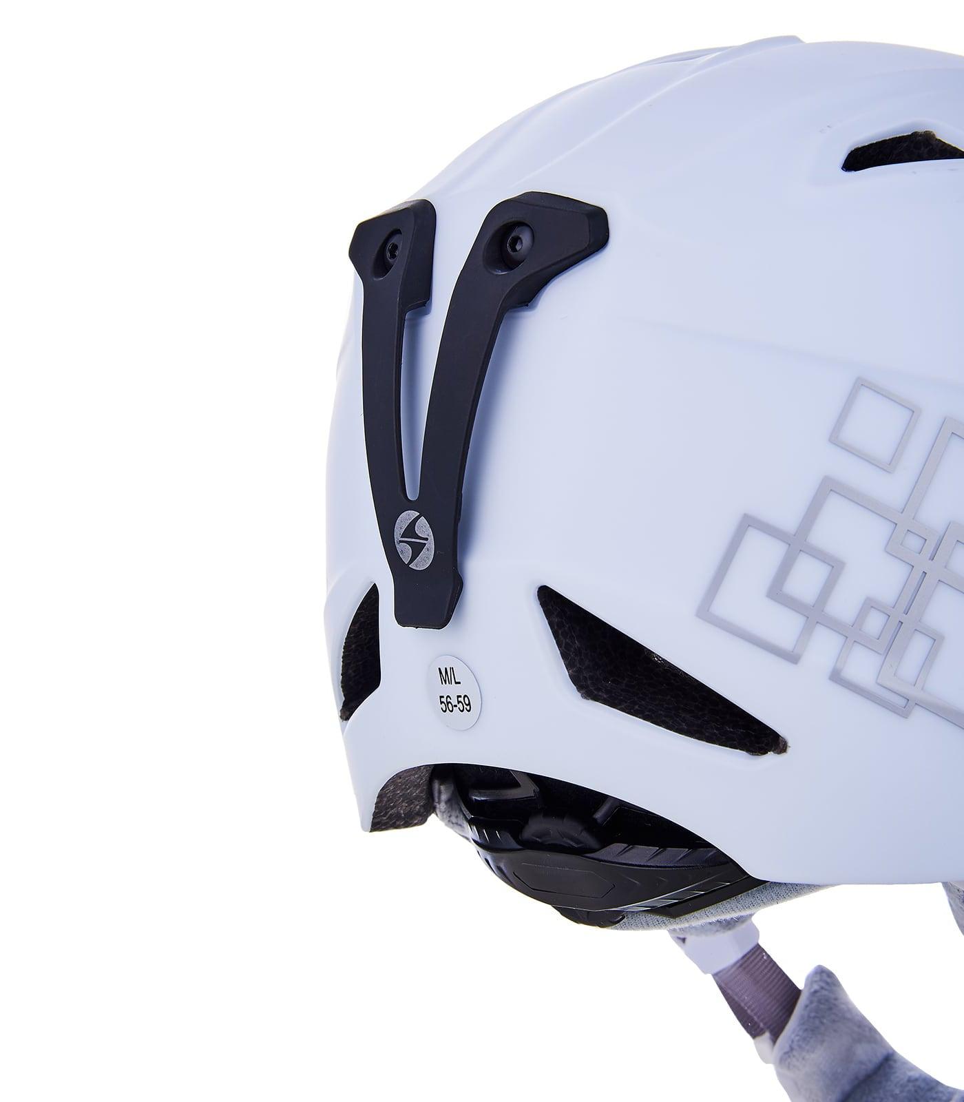 Viva Demon ski helmet, white matt/silver squares
