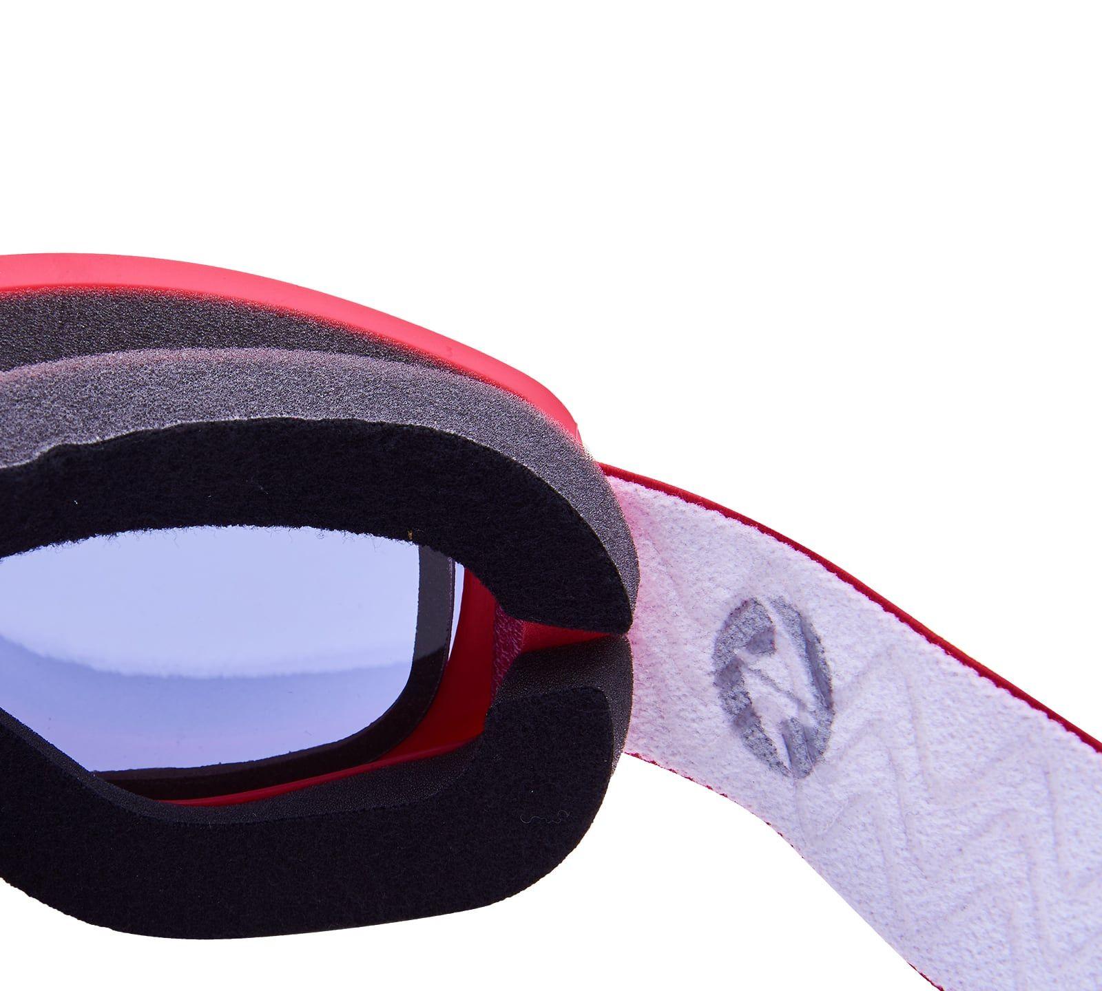 Ski Gog. 921 MDAVZSO, raspberry matt, smoke2, orange mirror