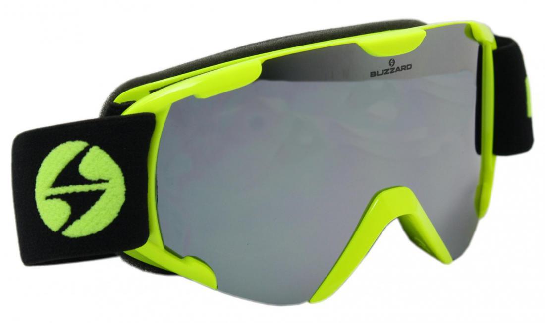Ski Gog.  952 DAO, neon yellow, amber2, silver mirror