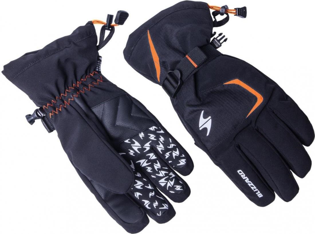 Reflex ski gloves, black/orange