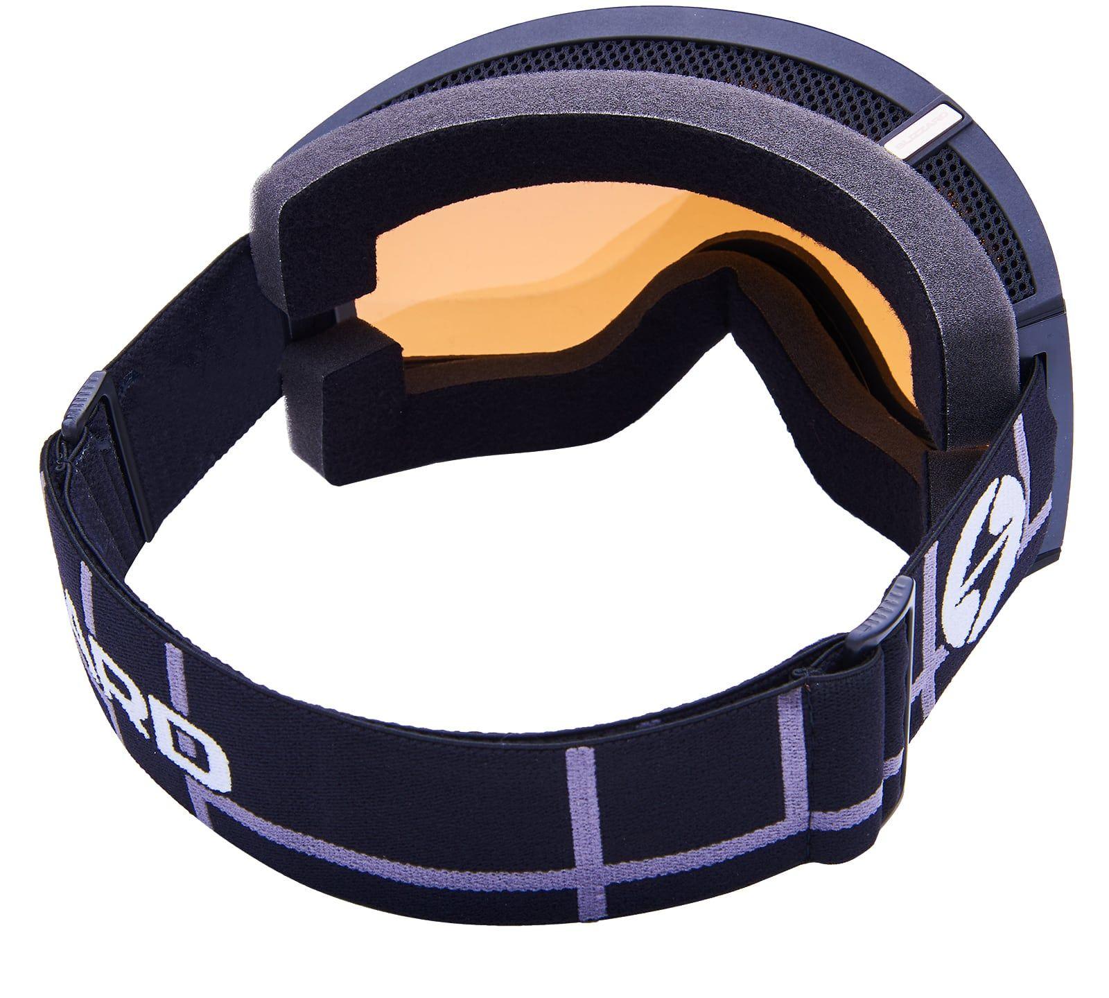 Ski Gog. 918 MDAVZSO, black matt, amber2, silver mirror
