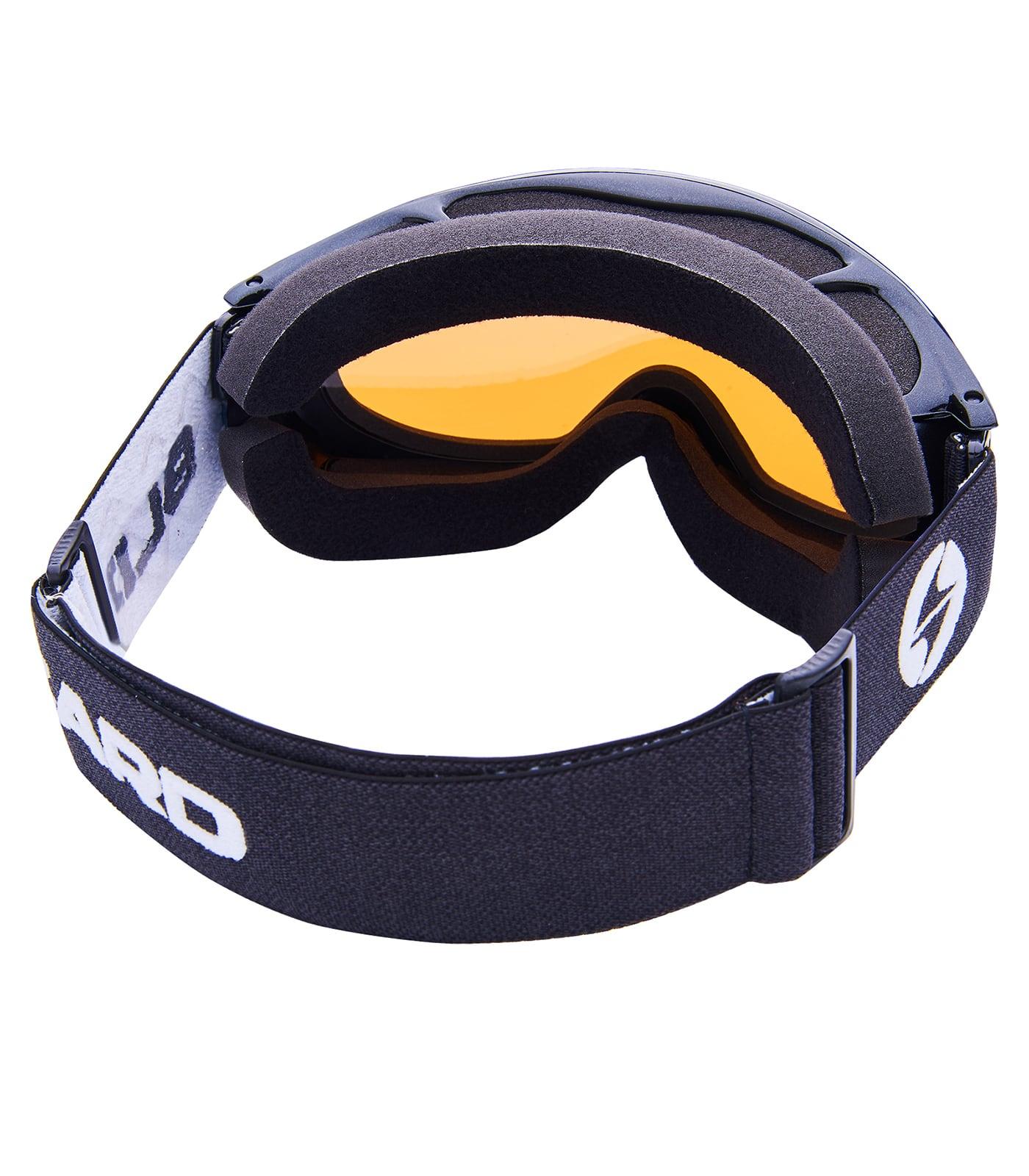 BLIZ Ski Gog. 905 MDAVZO, black metallic, amber2, silver mirror