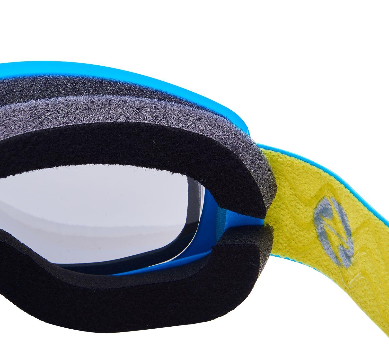 Ski Gog. 921 MDAVZSO, neon blue matt, smoke2, blue mirror