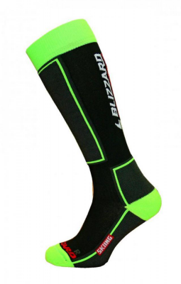 Skiing ski socks,black/green