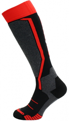 Allround ski socks, black/anthracite/red