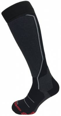 II. Allround ski socks, black/anthracite/grey/red