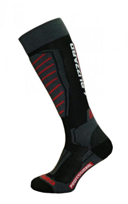 Professional ski socks,black/red