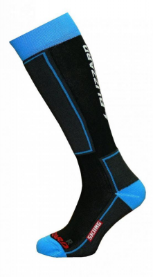 Skiing ski socks junior,black/blue