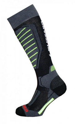 Professional ski socks,black/yellow