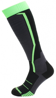 Allround ski socks, black/anthracite/green