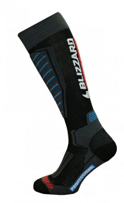 Professional ski socks,black/blue