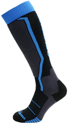 Allround ski socks junior, black/anthracite/blue