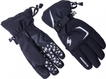 Reflex ski gloves, black/silver