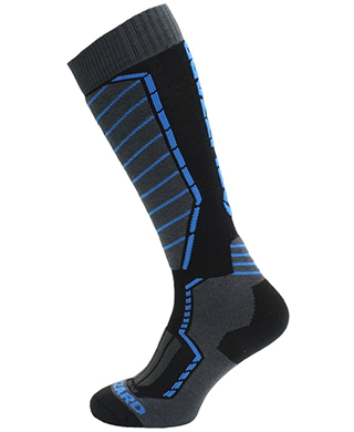 Profi ski socks, black/anthracite/blue