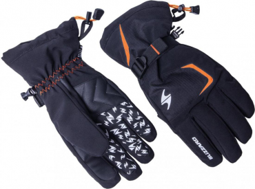 Reflex ski gloves, black/orange