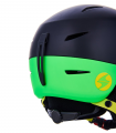 Speed ski helmet junior, black matt/neon yellow matt/neon green matt