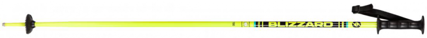 Race junior ski poles, yellow/black