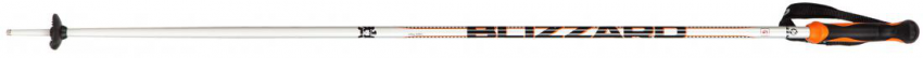 Allmountain ski poles, silver/neon orange